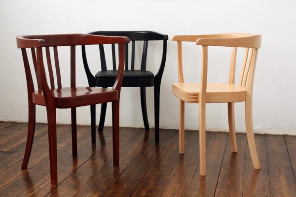 Stoelcker Stuhl, ohne Lederpolster, Schwarz gebeizt